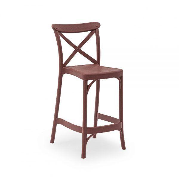 Stol CAPRI Red 65cm